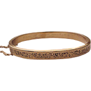 Victorian Etruscan Revival 14Kt. Yellow Gold and Enamel Bracelet - Dated 1870