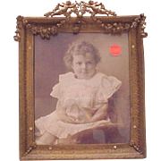 SALE PENDING Dore Bronze Photo Frame - Circa 1900