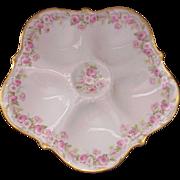 SALE Elite (Bawo & Dotter Co.) Limoges Rose Pattern Oyster Plate - Circa 1910