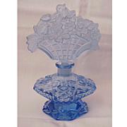 Blue Figural Stopper Czech Perfume Bottle - Circa 1930