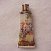 Austrian Hand-Painted Enamel and Silver Scent Bottle - Circa 1895