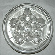 SOLD Vintage Clear Glass Footed Flower Frog