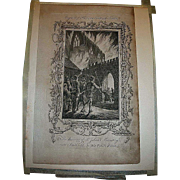 18th Century Copper Engraving By W. Walker for Harrison's History of London