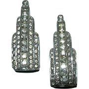 Art Deco Rhinestone WMC A Fur / Dress Clips