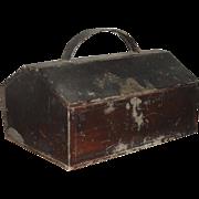 Small 19th C. Tin Spice Box - 6 Compartments