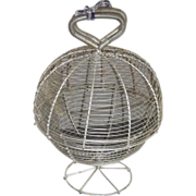 SALE c. 1900 Wireware Salad Washer / Dryer - Egg Basket