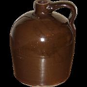 SALE c.1900 Beehive Stoneware Jug - Albany Slip Glaze