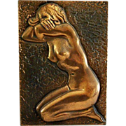 SOLD Copper Nude Wall Art High Relief