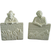 SOLD Rookwood Pottery Bookends Dutch Boy  Girl Circa  1929 - Red Tag Sale Item