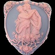 Vintage Schafer Vater Jasperware Box Blue and Pink