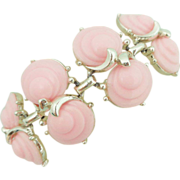REDUCED Vintage Pale Pink Lucite Shell Bracelet