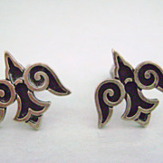 REDUCED JAMES AVERY Sterling Silver Doves Cuff Links