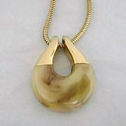 SALE Vintage TRIFARI Mod Marbled Lucite Necklace