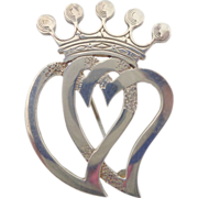 REDUCED Sterling Silver OLA GORIE Scottish Love Token Luckenbooth Pin