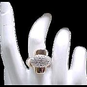 FAB Panetta Cocktail Ring - Goldtone & Rhinestone - Fashion Statement