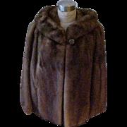 Fab Emba Mink Jacket Light Brown - Small/Medium - Check measurements
