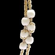 Trifari Waterfall Companion Necklace - Creamy White, Goldtone