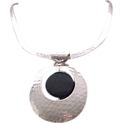 Sterling & Onyx Convertible Necklace