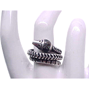 Coiled Snake Ring - Sterling Silver