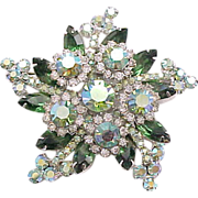 Spectacular Juliana Star Shaped Rhinestone Brooch,  Earrings