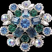 Lovely Lisner Rhinestone Pin, Earrings