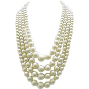 Four Strand Faux Pearl Necklace - Studio Girl of Hollywood