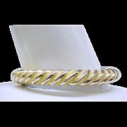 06 - Pretty Yellow Enamel Bracelet, Earrings and  Pin - Bergere