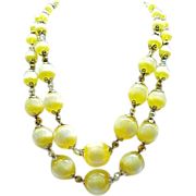 07 - Eye Catching Vendome Necklace,  Earrings - Luscious Yellow