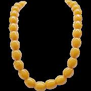 Fabulous Butterscotch Bakelite Necklace - Huge Beads