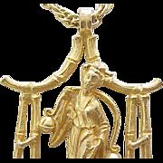 Hattie Carnegie Necklace - Oriental Goddess - Happiness Symbol