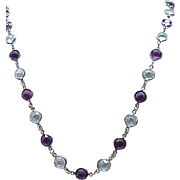 08 - Crystal Necklace - Unfoiled, Open Backed - Purple, Clear