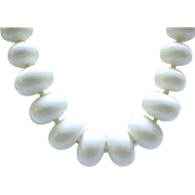 08 - Perfect Long Summer Necklace - Interesting Big White Beads