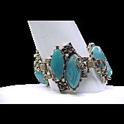 06 - Fabulous Selro Huge Green Lucite Bracelet