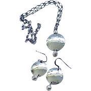 Sterling & Fresh Water Pearls - Necklace,  Earrings