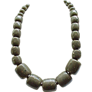 Super Chunky Les Bernard Necklace with Drop Earrings
