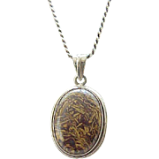 Sterling Necklace with Natural Stone - Earth Colors