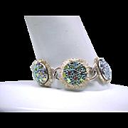 Pretty Judy Lee Iridescent Glass Bracelet, Earrings