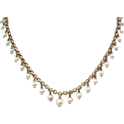 10 - Necklace with Faux Pearl Drops