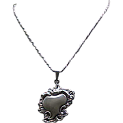 02 - Sterling Silver Pendant Necklace, Chain