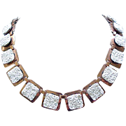 Matisse California Dreamin' White Enamel & Copper Necklace,  Earrings