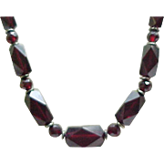 Superb Cherry Amber Necklace Art Deco Beads