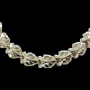 11 - High Quality Goldtone Leaf Necklace by Jaycraft