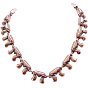 Renoir Copper Necklace with Anodized Accents