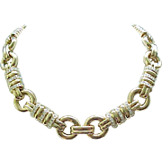 Elegant Panetta Rhinestone Necklace with Exceptional Gold Plating