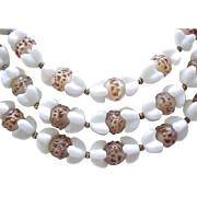 3 Strand Trifari Necklace  Superb Glass Beads