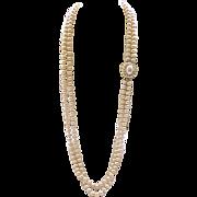 Elegant Opera Length Panetta Faux Pearl Necklace
