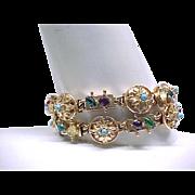 Double Strand Bracelet Similar to Slide Bracelet - Rhinestones +