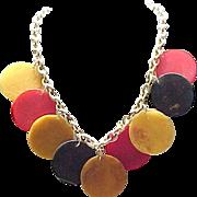 07 - Bakelite Necklace - 9 Large Discs