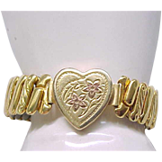 Lovely Sweetheart Expansion Bracelet - Yellow Gold Filled, Rose Gold