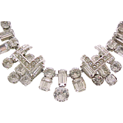 Superb Eisenberg Diamante Rhinestone Necklace, Earrings - Elegant